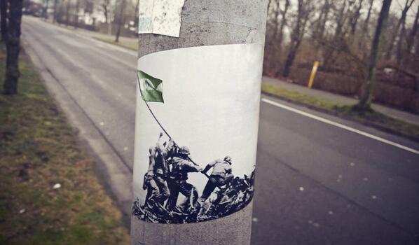 Briefe Von Iwo Jima : Stickerdruck märz vert et blanc
